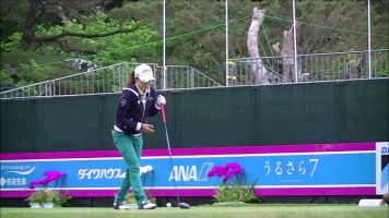 藤田光里練習ラウンド(2015年3月ダイキンオーキッド)