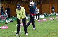 チョン・インジ evian チャンピオンシップ 雨の中での練習風景